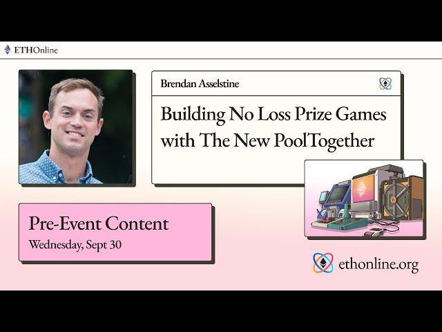 ETHOnline 🛠️ PoolTogether: Building No Loss Prize Games