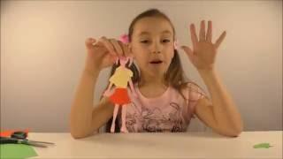 #Алиса  #вырезает  куклу из бумаги и делает ей одежду