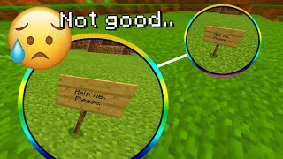 Someone is asking for help in this Minecraft world.. (Scary Minecraft Seed)