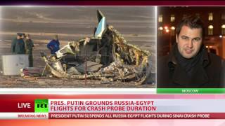 Putin grounds Russia-Egypt flights for crash probe duration