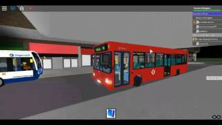 Roblox North London bus Simulator Tour Plaxton Pointer Arriva London Fleet PDL151-152 Showcase