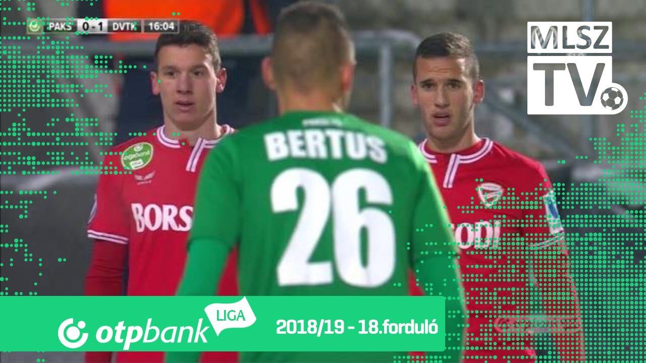 Paksi FC – DVTK | 1-2 | (1-1) | OTP Bank Liga | 18. forduló | MLSZTV