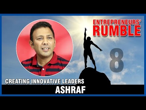 I specialize in training the mind using experiential learning - Ashraf, Life Academy