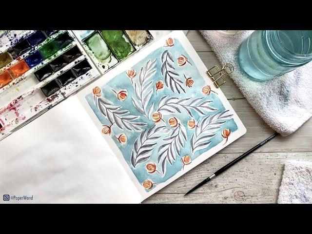 LEAF-INSPIRED ART JOURNAL IDEA