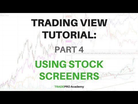 TradingView Tutorial Part 4 - How to Use the Stock Screener in