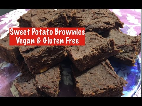 Sweet Potato Brownies - Vegan, GF & Healthy!