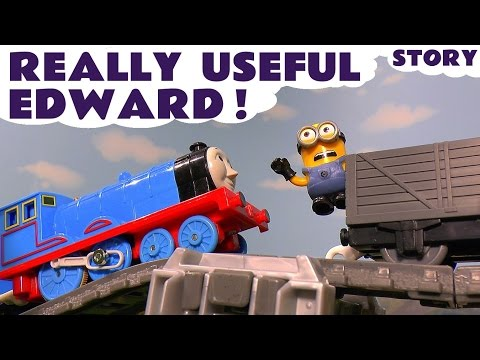 Thumbnail: Thomas and Friends Toy Trains Accident Episode with funny Minions - Train Toys For Kids ToyTrains4u