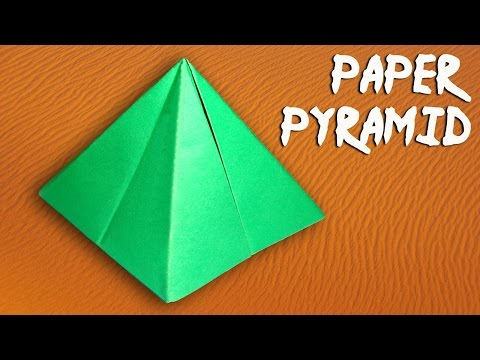 How To Make Paper Pyramid Easily
