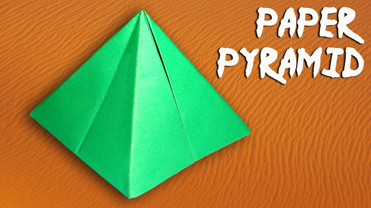 how to make a paper pyramid easily diy paper crafts youtube