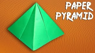 How To Make a Paper Pyramid Easily - DIY Paper Crafts