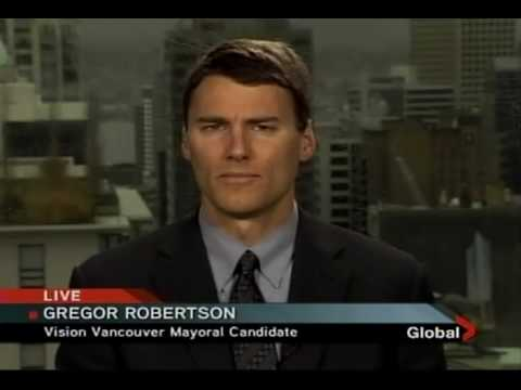 Gregor Robertson fare evasion interview with GlobalTV