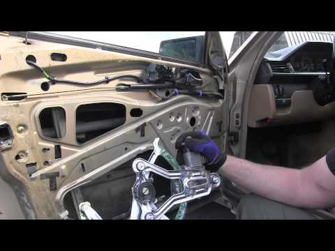 hqdefault mercedes w124 installing new window regulator youtube GM Window Regulator Diagram at gsmx.co