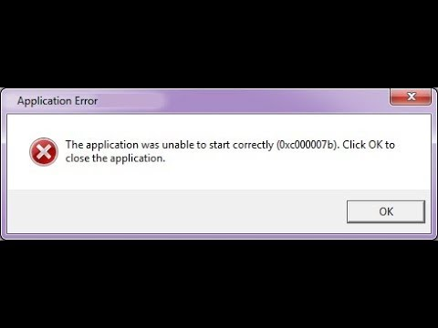 how to fix 0xc00007b error windows
