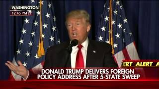 Donald Trumps foreign policy address.