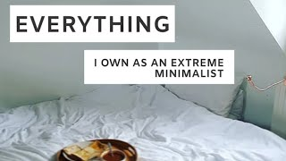 EVERYTHING I Own as an Extreme Minimalist//Room Tour by a 13 Year Old Vegan Minimalist