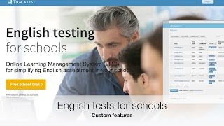 Admin: Online English Test For Schools- custom features