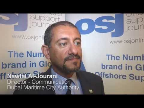 Nawfal Al Jourani Communications Director of the Dubai Maritime City Authority speaks to OSJ