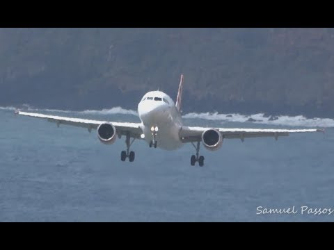 IMPRESSIVE angle of attack || Shall we land or make a go around || Madeira