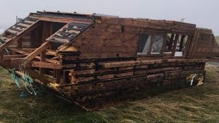 Mystery as Canadian houseboat washes up on Irish Beach