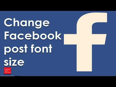 How To Change Font Size On Facebook Post Using Android Device