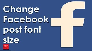 Size you facebook the on How change do font