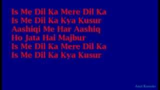 Aashiqui Mein mamun like this video Hindi Full Karaoke with Lyrics