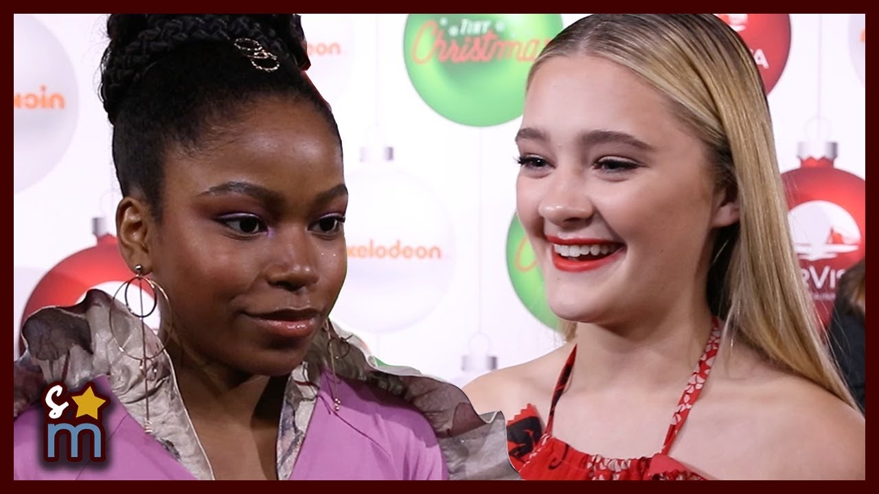 Download Lizzy Greene & Riele Downs Talk TINY CHRISTMAS & Tiny vs Giant For A Day | Interview