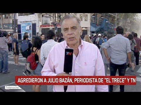 ¡Así agredieron a Julio Bazán, periodista de eltrece y TN!