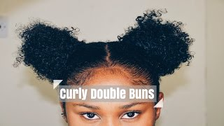 Curly Double Buns (Space buns) | Visually Detailed Tutorial