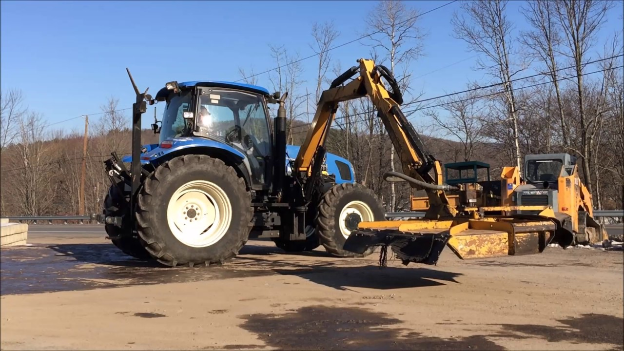 2010 New Holland T6030 With Alamo 60 Quot Boom Axe Mower