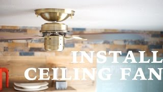 [DIY] How to Install Ceiling Fan ☆ シーリングファンを取り付けました! thumbnail
