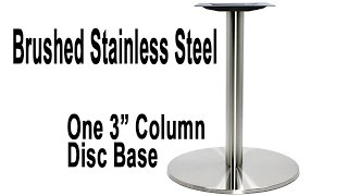Turin Stainless Steel Disc Table Base - Table Height And Bar Height
