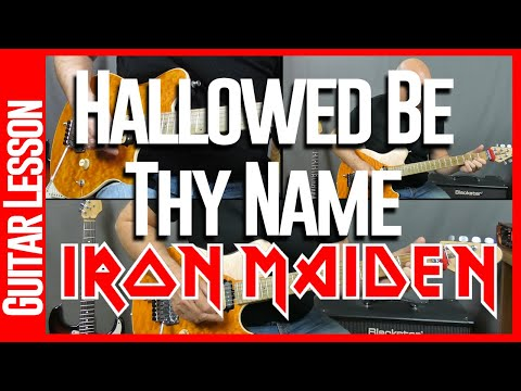 Hallowed Be Thy Name By Iron Maiden - Guitar Lesson Tutorial