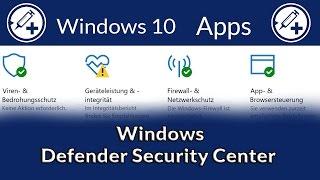 Das Windows Defender Security Center im Detail