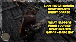 What Happens When You Visit Braithwaites Manor After The Fire + Rare Hat | Red Dead Redemption 2