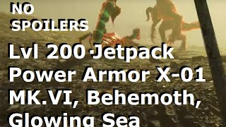 Fallout 4: Level 200 Gameplay - Jetpack Power Armor X-01 Mk. VI, Behemoth, Glowing Sea (NO SPOILERS)