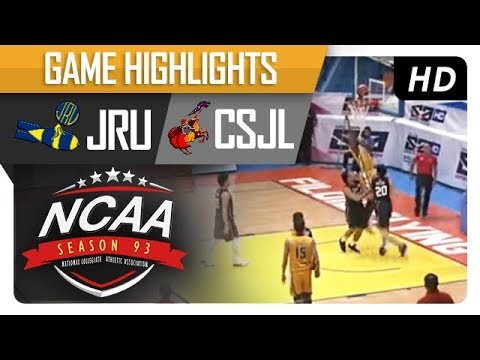 JRU vs. CSJL | NCAA 93 | MB Game Highlights | September 14, 2017