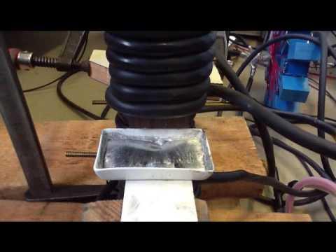 Liquid metal pool deformation by means of magnetic pressure