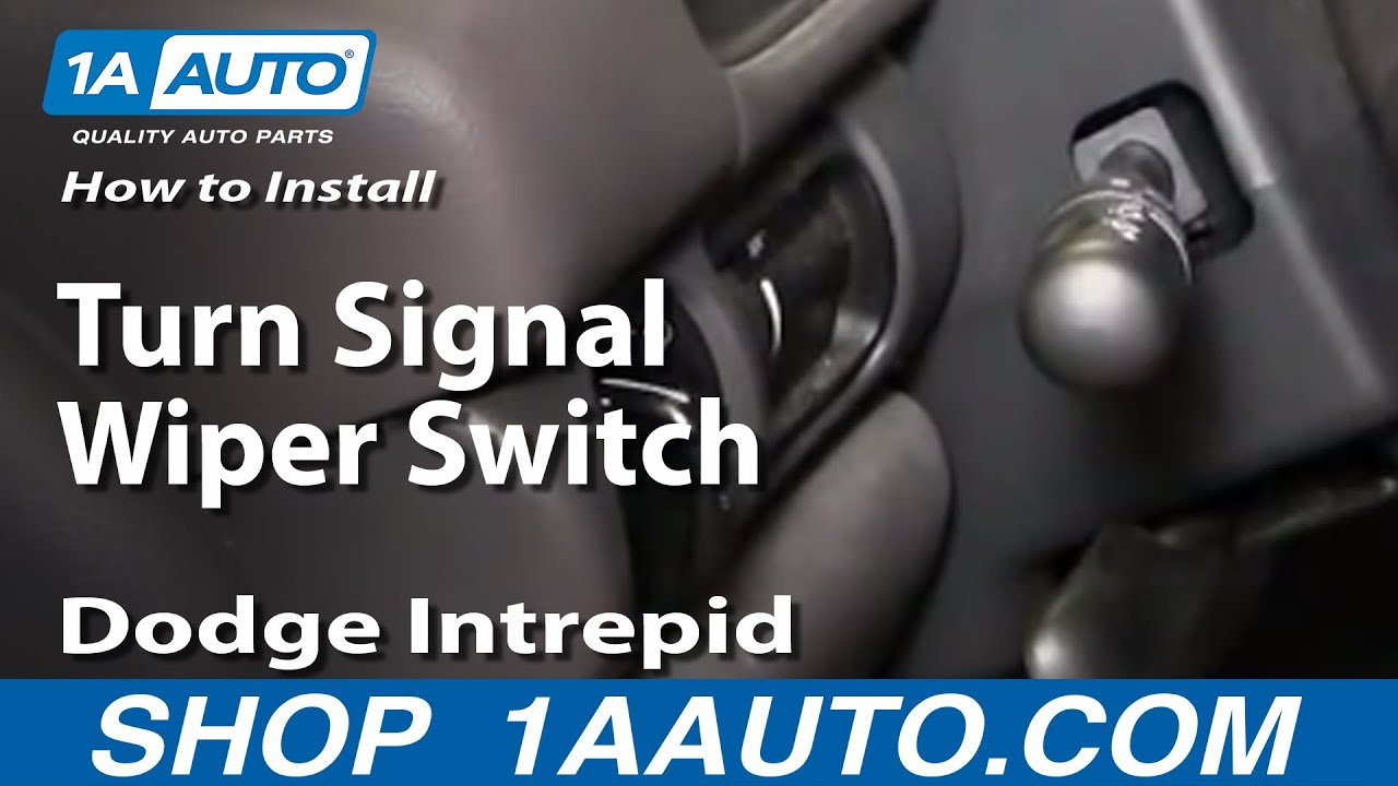 How To Install Replace Turn Signal Wiper Switch Dodge Intrepid 93 97 1989 Chrysler Lebaron Power Steering Diagram Wiring 1aautocom Youtube