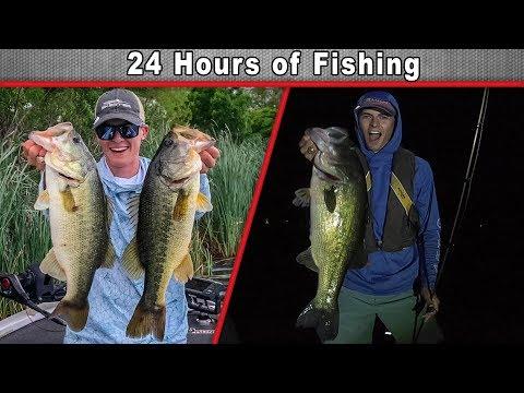24 HOUR Fishing Challenge!! (Huge Fishing Gear Giveaways)