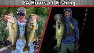 24 HOUR Fishing Challenge!! (Huge Fishing Gear Giveaways)