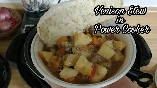 Venison Stew from Frozen Roast in power cooker Video