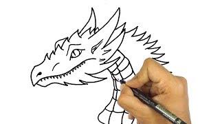 تعليم الرسم | كيف ترسم || تنين || خطوة بخطوة للمبتدئين