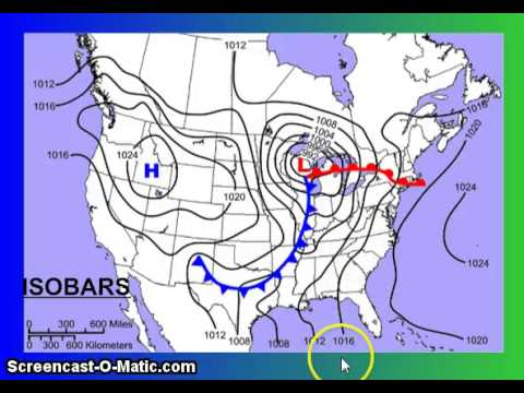 What Are Isobars On A Weather Map.Analyzing Maps Isobars Isotherms Youtube