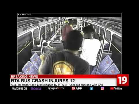 12 people injured during RTA bus crash with suspected OVI