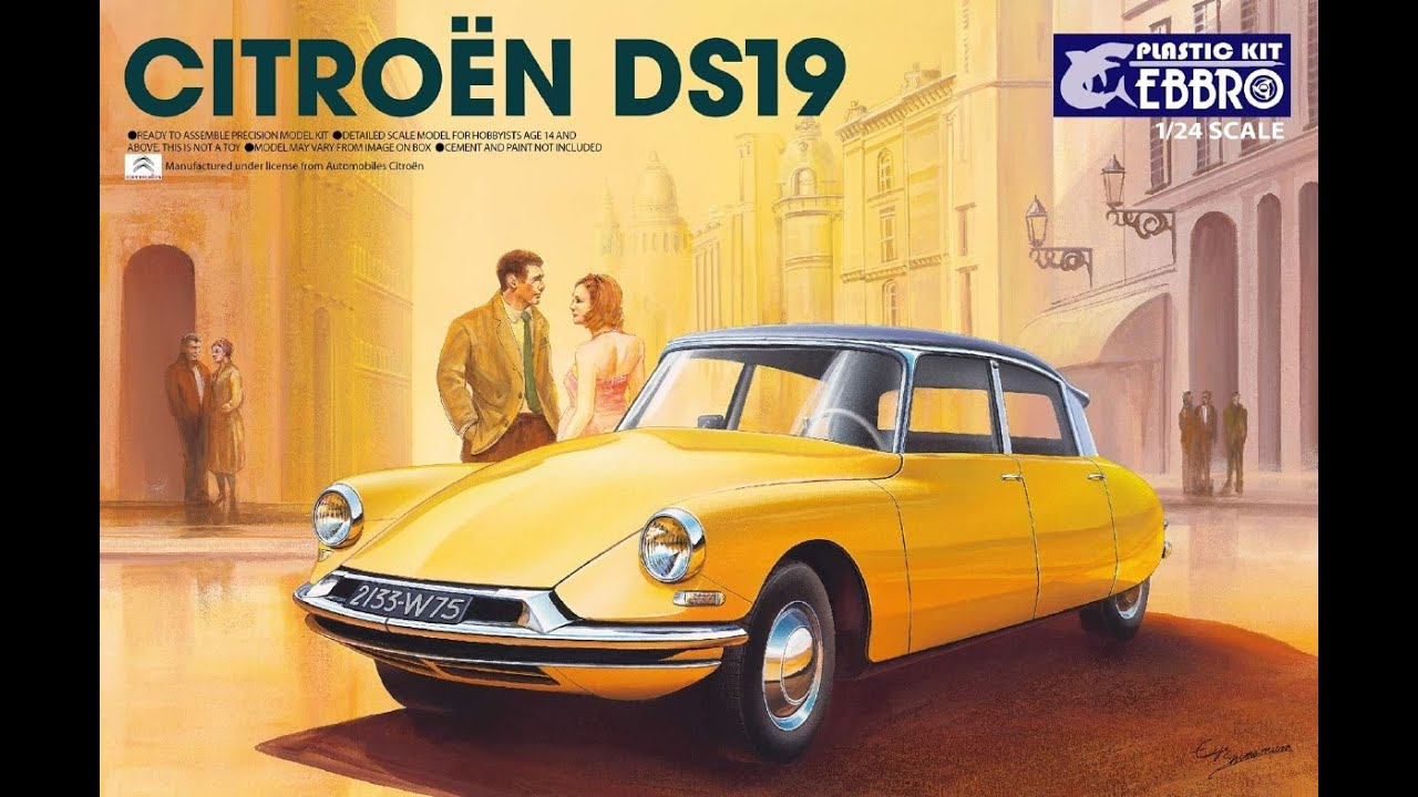 Ebbro 124 citroen ds 19 youtube ebbro 124 citroen ds 19 vanachro Image collections