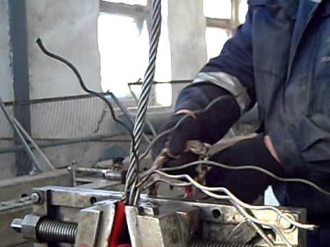 видео: плетение троса в петлю