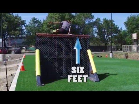 San Jose Police Department Physical Agility Test - Fence Climb