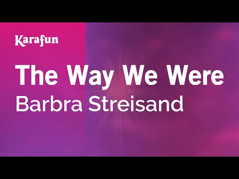 Karaoke The Way We Were - Barbra Streisand *