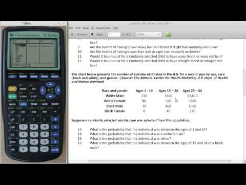 Summing a List of Numbers Using the TI-83 or TI-84 calculator